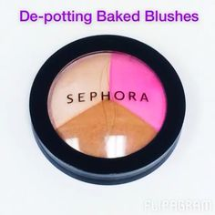 De-potting baked blushes and bronzers is super simple and they fit perfectly into the DOME size Z Palette which we designed deeper to fit dome-shaped products (even brushes!) #zpalette @sephora @sephorapro #sephorauniversity #makeupaddict