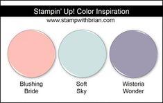 Stampin' Up! Color Inspiration: Blushing Bride, Soft Sky, Wisteria Wonder