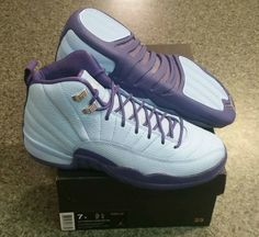 Initial Look At The Air Jordan 12 GS Dark Purple Dust