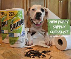 New Puppy Supply Checklist #QuickerPickerUpper