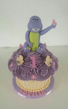 Barney Giant Cup Cake