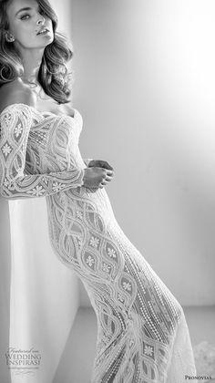 atelier pronovias 2018 bridal long sleeves sweetheart neckline full embellishment elegant fit and flare wedding dress sheer button back chapel train (3) zv -- Atelier Pronovias 2018 Wedding Dresses