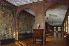 Interior of Sutton Place, England Exterior Colors, Interior And Exterior, Timber Panelling, Castles In England, English Castles, Country House Interior, Sutton Place, Surrey, Royalty Free Photos