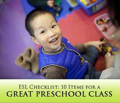 ESL Checklist: 10 Items for a Great Preschool Class