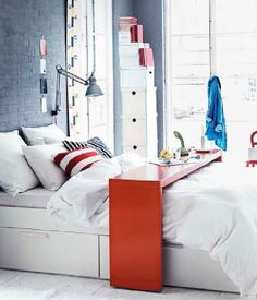 Ikea Malm Occasional Table As Overbed Desk Am Really Wanting One After Seeing Kirsten S On Bed Pinterest And