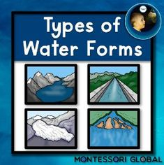 Boom Cards - Montessori - Types of Water Forms - Level 1 Student Learning, Teaching Kids, Teaching Resources, Booklet Template, Task Cards, Social Studies, Montessori, Water, Multiple Choice