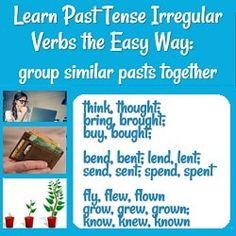 Learn Past Tense Irregular Verbs the Easy Way English Sentence Structure, Basic English Sentences, English Verbs, Subject And Predicate, Subject And Verb, Complex Sentences, Word Sentences, One Word Sentence, English Vocabulary Games