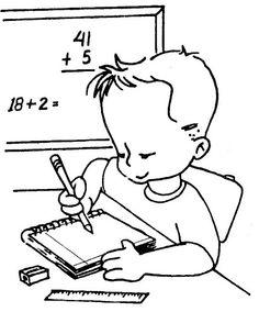 Boy Learn Math