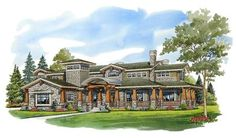 Plan Super-sized Mountain Home Woodworking Guide, Custom Woodworking, Woodworking Projects Plans, Shed Plans, House Plans, Craftsman Style Homes, Summer Kitchen, Mountain Homes, Folding Doors
