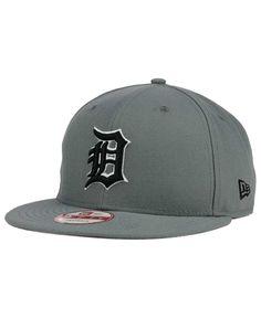New Era Detroit Tigers Gray Black White 9FIFTY Snapback Cap Dope Hats c19cee0692e2