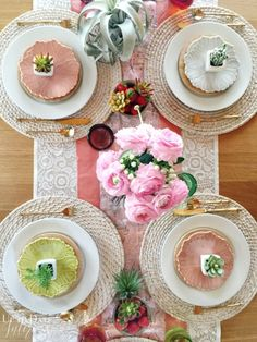 put together an eclectic spring tablescape in minutes
