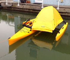 Amazing!! Why get on shore? No need :-D  Western Canoeing and Kayaking: Hobie Adventure Island Tent Mod