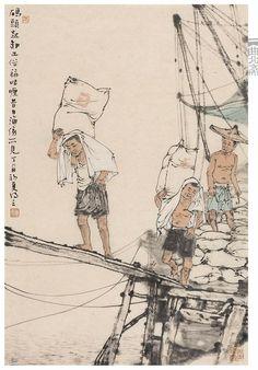 李德勝,May 17 Chinese Brush, Chinese Art, Chinese Drawings, Children's Picture Books, Illustrations, Chinese Painting, Watercolour Painting, Traditional Art, Comic Strips