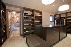 Your closet is the size of a Banana Republic with plenty of storage for shoes, clothes and even a snowmobile should you desire. See more of this closet and home in Idaho by clicking on the picture above.