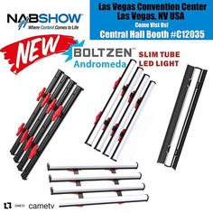 #Repost @cametv  Make sure to stop by #NAB2018 #LasVegas #Nevada booth this year #C12035 to check out our new #Boltzen #Andromeda #LED Slim Tube Lights!  More Info: https://ift.tt/2GHf0gd