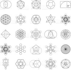 Set of Sacred Geometry Icons stock vector art 82863023 - iStock