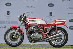 The 1975 Bimota Honda HB1 from Collezione Zappieri won the Class D: Framed in Europe category...