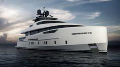 30m Omega Architects luxury yacht design for Alia Yachts
