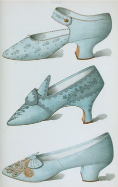 19th century, fashion plates, vintage, antique, shoes, illustration