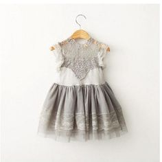 korean children clothing on sale at reasonable prices, buy Korean Children Clothings 2015 Summer Girl Dress Vintage Ruffles Sleeve Clothes Princess Girl Party/birthday Costumes from mobile site on Aliexpress Now! Girls Lace Dress, Baby Girl Dresses, Dress Lace, Tulle Lace, Tulle Dress, Ball Gown Dresses, Dance Dresses, Cheap Dresses, Dress Flower