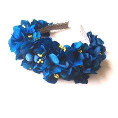 Tocado de flores preservadas azul - Blue flower crown