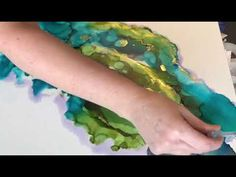 Discovery Alcohol Inks on Canvas - YouTube