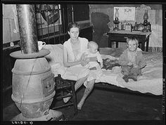 families lived in abandoned company stores.