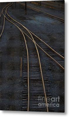 Golden Tracks Metal Print By Margie Hurwich- 40 X 60 BIG CONERENCE ROOM