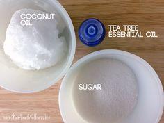 Homemade tea tree face scrub. Love this!