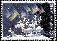 Joulupostimerkki 1996 2/3 - Revontulet