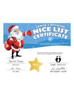 The printable santas nice list from free letter from santa claus easy free letter from santa magical package spiritdancerdesigns