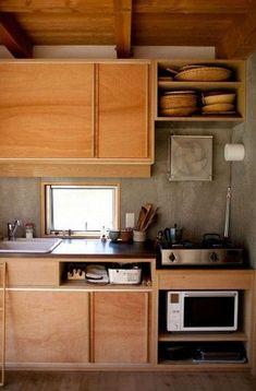 Asian Kitchen, Japanese Kitchen, Kitchen Sets, New Kitchen, Natural Kitchen, Little Kitchen, Kitchen Interior, Kitchen Decor, Plywood Kitchen