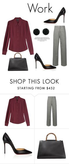 """544"" by meldiana ❤ liked on Polyvore featuring Marc Jacobs, Victoria Beckham, Christian Louboutin, Gucci and BillyTheTree"