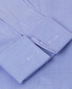 Fitted Blue Puppytooth Shirt | T.M.Lewin