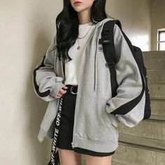 Kpop Fashion Outfits, Edgy Outfits, Retro Outfits, Mode Outfits, Cute Casual Outfits, Casual Dresses For Women, Female Outfits, Casual Korean Outfits, Korean Spring Outfits