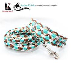 """Super ♥ schönes #Paracord """"BIG WAVE"""" #Hundehalsband wahlweise mit Paracord #Hundeleine #Shopping #Fashion #dog #Style 10% der Einnahmen geht an die Hunde von www.hundehilferumaenien.com Darf gerne gepinnt werden"""