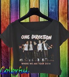 one direction shirt one direction crop top by colorfulcroptop, $16.00