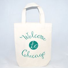Wedding Welcome Tote Bags, Wedding Favors,  Initials and Date, Welcome to City, Customizable Tote Bags