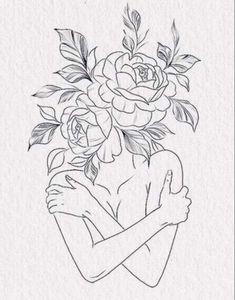 Tattoo Design Drawings, Pencil Art Drawings, Art Drawings Sketches, Easy Drawings, Line Art Tattoos, Cute Tattoos, Body Art Tattoos, Small Tattoos, Tatoos