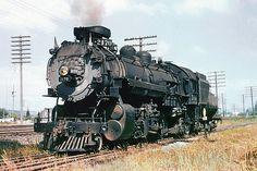 Union Pacific MK-8 class Heavy Mikado (MacArthur) 2-8-2 Baldwin built in 1918, steam locomotive # 2170, seen at an unknown location & date