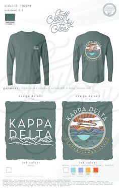 Kappa Delta | KD | Sunset Long Sleeve T-Shirt Design | Mountains T-Shirt Design…