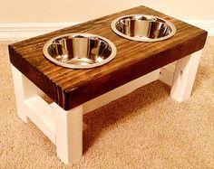 Dog Bowl Feeder Large Dog Feeder Farmhouse by TheBarnwoodBarge