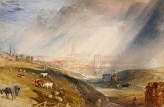 Joseph Mallord William Turner 'Coventry', c.1832 - Watercolour on paper -  Dimensions Support: 288 x 437 mm -  © The British Museum