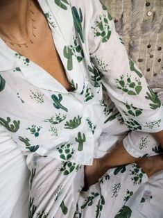 Pajamas: print cute bedroom nightwear cactus plants - women's lingerie stores, lingerie for men, hon Fashion Me Now, Womens Fashion Online, Latest Fashion For Women, Fashion Clothes, Fashion Outfits, Teen Fashion, Pajamas For Teens, Pajamas Women, Satin Pyjama Set