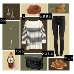 A Day Out by pichimichiko on Polyvore featuring Calypso St. Barth, Notify, Miss Girl, Betsey Johnson, Vintage 55, GANT, Sperry Top-Sider, The Cambridge Satchel Company, stripes and weekend
