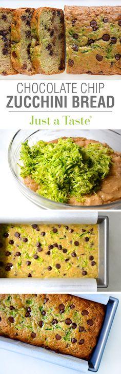 Chocolate Chip Zucchini Bread #recipe on justataste.com