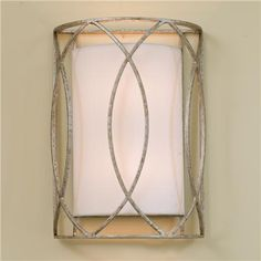 "Circlet Wall Sconce - $199.  14""Hx10""Wx5""D.  2 of these in Powder Room.  Just put a frame around your existing mirror."