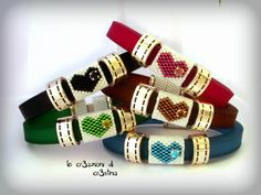 bead tubes to fit around an existing bracelet - these are in two parts because the bracelet opens in the middle - le cr3azioni di cr3stina -