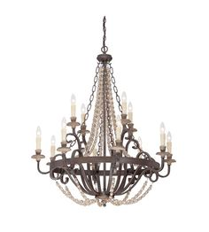 Savoy House Mallory 12 Light Chandelier in Fossil Stone 1-7405-12-39 #savoyhouse #lighting