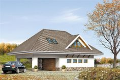 Projekt G2-4.12a Bungalow House Plans, Bungalow House Design, Country Modern Home, Facade House, Home Design Plans, Wood Construction, Planer, Home Fashion, Shed